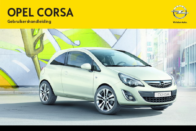 opel corsa handleiding 2010 t m 2014 24 50. Black Bedroom Furniture Sets. Home Design Ideas